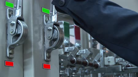 electric : Electric switches the supply voltage. switch Stock Footage