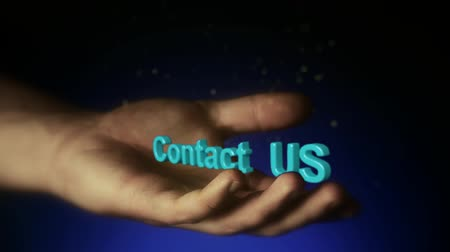 contatos : Icon Contact Us at the opening a persons palm, Contact Us in the hand. Contact Us Vídeos