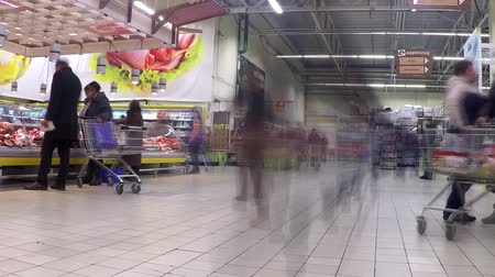 регистр : A large supermarket a lot of buyers. Time lapse