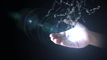 físico : The theory of relativity (E = mc2) in hand