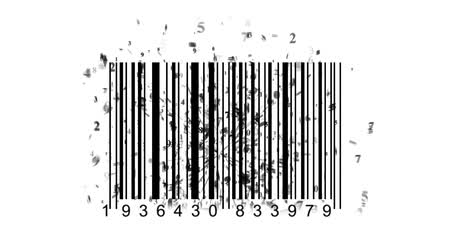 inventário : barcode scanner by barcode reader. Closeup on array of digits. chaos digits Vídeos