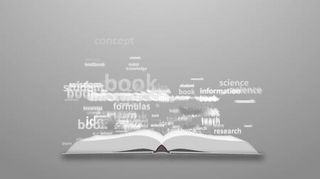 autor : The concept of the word education. Word cloud emitted from the book Vídeos