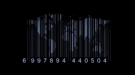 lojistik : Global economy concept. World map as a barcode. world map as bar-code