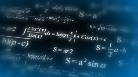 formuła : Mathematical formulas. Flying through different mathematical formulas