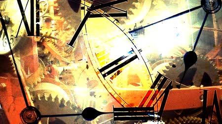 mecânica : Background of hours. mechanical watches Stock Footage