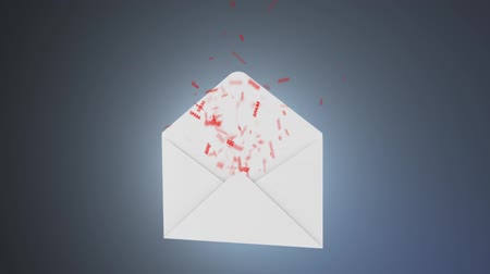 fraudulent : The concept of spam. A lot of spam flying out of the envelope
