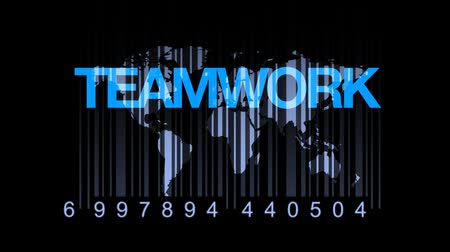 partnerstwo : Barcode Education World Teamwork Concept Wideo