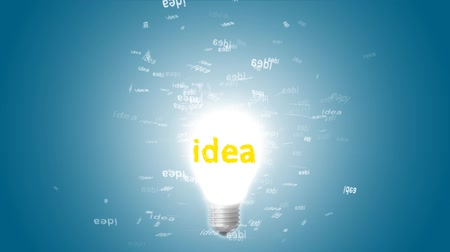 inspiração : Glowing light bulb with departing marks ideas. Creative idea in bulb shape as inspiration concept