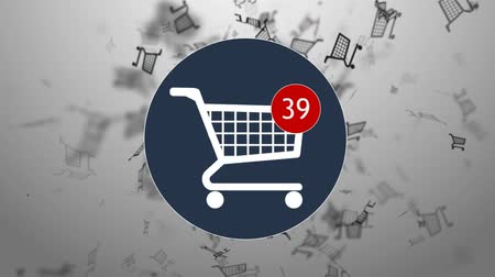 кнопка : Shopping, shopping in the online store. Many shopping. hopping cart icon
