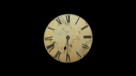 clock hands : Television interference from fast motion hours. The concept of time warp. clock hands moving fast.