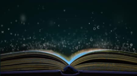 fantasia : Letters flying out of an open book