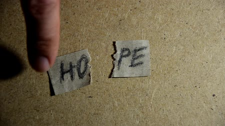 nadzieja : Hope word concept. Pieces of Hope Wideo