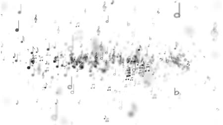 notes : White background of music notes Stock Footage