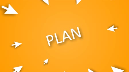 business values : Business strategy planning as a concept. Emphasis on the word PLAN Stock Footage
