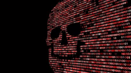 безопасность : Concept of computer security. The skull of the hexadecimal code. Pirate online. Cyber criminals. Hackers cracked the code.