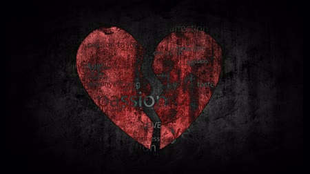 divórcio : Broken heart on grunge background