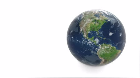 fundo branco : 3d model of planet earth. Earth rotates on a white background