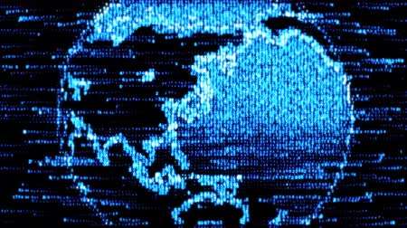Global Network World. The concept of the Internet all over the world. Earth from the digital code