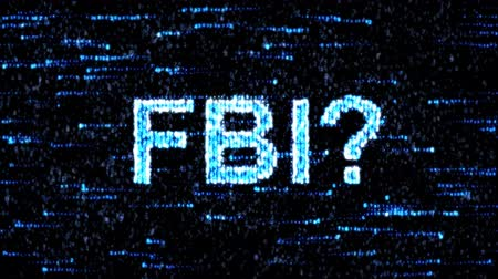 filigran : Cyberespionage FBI. Hacking of information technology Stok Video