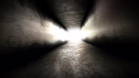 pesadelo : Light at the end of the tunnel. Going to Hope Stock Footage