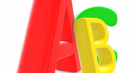 knihkupectví : Beautiful animated letters ABC. Three-dimensional alphabet with multi-colored letters Dostupné videozáznamy