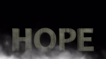 pleading : Ghost hope in the fog. There is still hope Stock Footage
