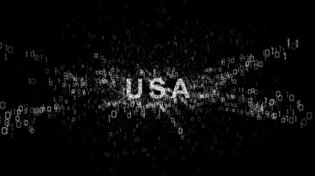 тайна : United States of America and cyberespionage Стоковые видеозаписи