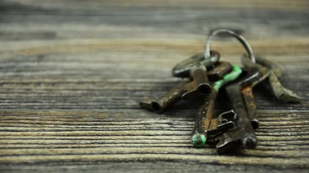 whitebackground : A bunch of old keys. 16 Stock Footage