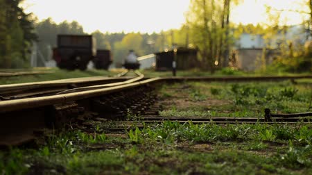 lokomotiva : Railroad tracks. Arrow switch ways.