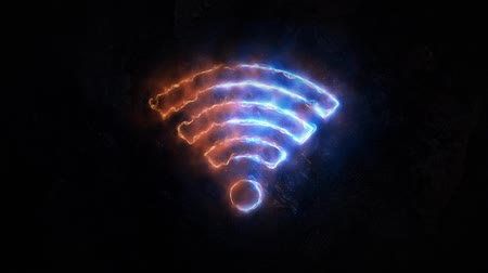 highspeed : WiFi electromagnetic signal. wifi connection