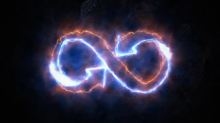 contorno : The symbol of infinity glows in the plasma. Infinity