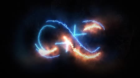 hieróglifo : The symbol of infinity glows in the plasma. Infinity