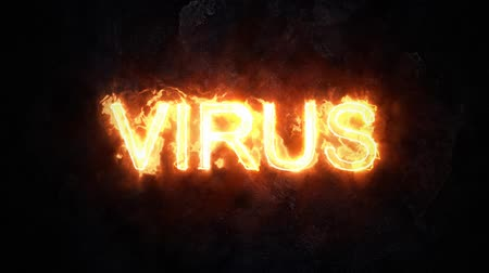 шифрование : Modern computer virus. Burning virus.