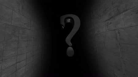 question : Many mysteries. Question. Whats in the dark. Stock Footage
