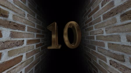 soon : Countdown to the event. The numbers are in order of turn. Mysterious account. Number 10 Stock Footage