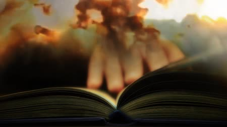 legion : The book of suffering and war. Read a book about the war Stock Footage
