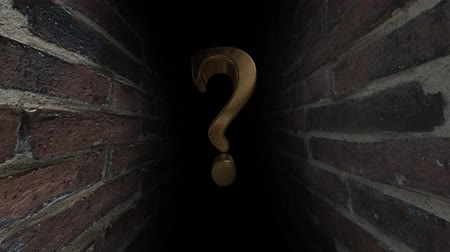 bold : Question mark. Whats there Unknown. What is it What is there Uncertainty. Stock Footage