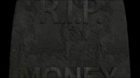 grim : Money evil death. Lack of money Stock Footage