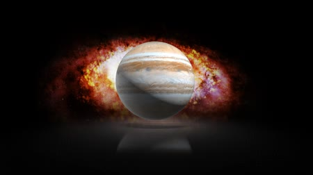 rtuť : The planet Jupiter in the solar system on the background of the Galaxy Dostupné videozáznamy