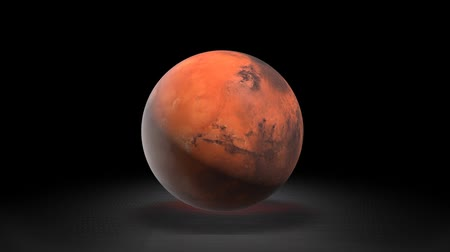 описание : Description of the planet Mars astronomy. Mars in the background of the galaxy. Стоковые видеозаписи