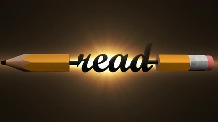 improve : Read an interesting book, newspaper, news. Creative pencil with read
