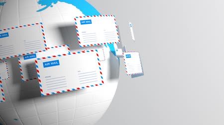 levelezés : Mail. Emails. Provide connectivity worldwide. Mail delivery Stock mozgókép