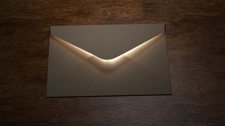 собственность : Letter. Mysterious letter with magic light.