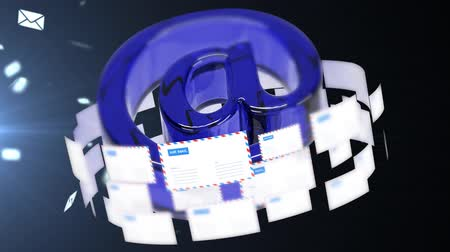 frustração : The concept of emails. A large number of letters. Stock Footage