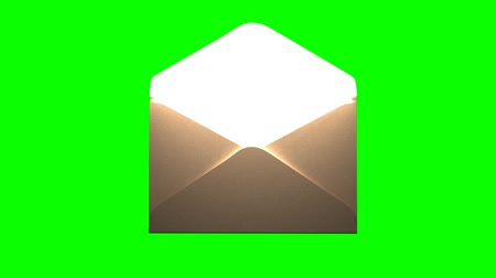 saying : The long-awaited letter. The letter on the green screen Stock Footage