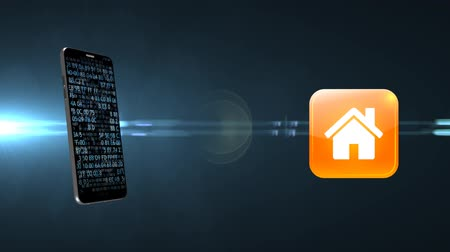 termostat : Smart House. House management. Remote smart home control. Wideo