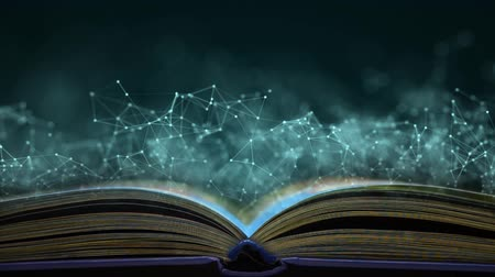 Scientific book. Clever book with the secrets of the creation of the world. A book that knows everything. Internet book.