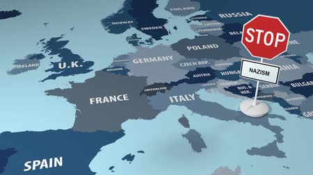farpa : Stop Nazism in the European Union. Class hatred. Stock Footage