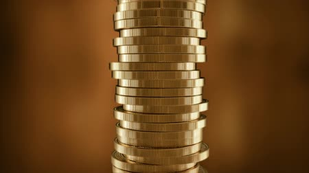 speculate : Euro sign on a stack of gold coins. European money.