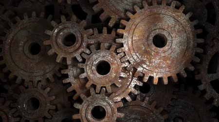 güvenilirlik : Old rusty gear mechanism. The concept of reliability of the mechanism. Teamwork.